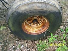 AC ALLIS CHALMERS 7045 TRACTOR FRONT WHEEL AND TIRE