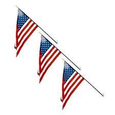 (3 pk) Classroom Flag 2ft x 3ft size American Flag for schools w/ Steel Bracket
