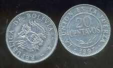 BOLIVIE   20 centavos 1997