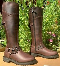 Harley-Davidson Women 5 1/2 m Tall Harness zip Redish Wine Leather Boots Lomita