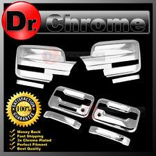 09-14 Ford F150 Chrome Mirror+2 Door Handle+keypad+PSG keyhole Cover COMBO kit