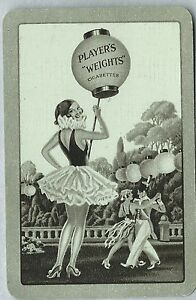Swap Playing Vintage Card- Advertising- Weights - Players Grey Border