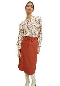 Shirt in fluid fabric with animal print of foxes by Compania Fantastica