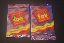 Trading Card Booster Pack x2 Fleer 1995 Fox Kids Network - Spiderman Xmen Bulk