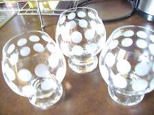3 Cognacschwenker Baileys auf Eis POLKA DOTS Ingrid-Glas 60er/70er Glashütte rar