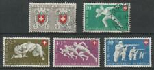 Switzerland 1950 # B191 to B195 For the Red Cross (set of 5) - Used semi-postals