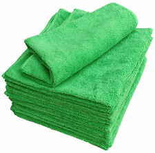 Microfasertücher 10 Mikrofaser Poliertuch 40x40 grün 300 gsm Reinigungstuch KFZ