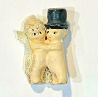 Kewpie Bride Groom Antique Old Doll Figurine Wedding Cake Topper