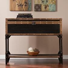 Trunk Console Sofa Table Entry Way Storage Restoration Style UNIQUE Hardware NEW