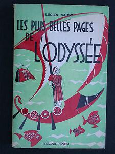 Les plus belles pages de l'Odyssée - Ulysse Mythologie grecque - Sausy 1962