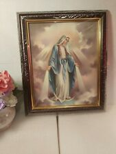 Our Lady Virgin Mary Picture Frame -  Wood (10x12 inches), New