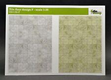 DioDump DD135-F Tile floor design F - 1:35 scale diorama building accessories