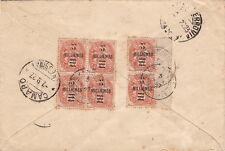 Lettre Blanc 5 Millièmes Alexandrie Egypte pour L'Italie Cover Brief Egypt