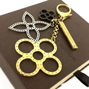 Louis Vuitton Monogram Bijoux Sac Tabage Key Ring Charm /E1378