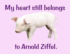 METAL MAGNET My Heart Still Belongs To Arnold Ziffel Pig Humor Pigs MAGNET