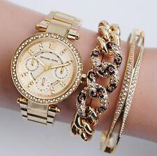 Original Michael Kors Uhr Damenuhr MK6056  Mini Parker Farbe:Gold Kristall NEU