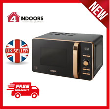Tower T24021 20L Digital Solo Microwave 800w In Black And Rose Gold - Brand New