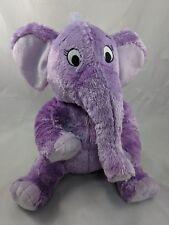 "Kohls Dr Seuss Purple Elephant Plush 12"" Stuffed Animal"