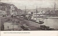 Dover, UNITED KINGDOM  -Docks Showing Convalescent Home, Kent, steamships, wagon