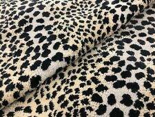 Clarence House Animal Skin Dots Grospoint Velvet Fabric- Linx / Black 1.15 yd
