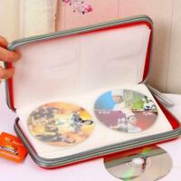 5Farben CD-Tasche DVD Wallet Für 80x CD DVD BluRay Disc Booklet Case Hülle Mappe