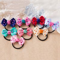 5pcs Children Kids Printing Sweet Dot Ponytail Holder Headband Tie Rope B Gift