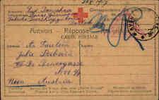 Feldpostkarte 1917 Zensur-Stempel WIEN Rotes Kreuz Antwortkarte aus Russland