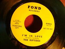 ORIG PRESSING MINT/M- GARAGE SURF 45~RIPTIDES~IM IN LOVE/HEY LITTLE GIRL~on FOND