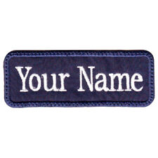 "MILITARY RECTANGULAR 3"" to 5"" x 1"" IN CUSTOM EMBROIDERED NAME / TEXT TAG PATCH"