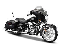 2015 HARLEY DAVIDSON STREET GLIDE BLACK MOTORCYCLE MODEL 1:12 BY MAISTO 32328-6