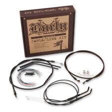 "Burly Brand 14"" Ape Hanger Cable/Brake/Wiring Kit For Harley-Davidson XL 07-13"