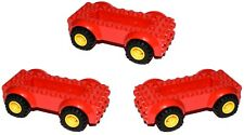 LEGO red vehicle chassis bases [PACK OF 3] with wheels for city car van
