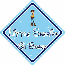 Pequeño Sheriff A Bordo Coche Firmar-Bebé a bordo-Disney Toy Story Woody