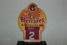 Vintage Hercules Cycle & Motor Co Birmingham Bicycle Advertising Calendar Sign