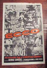 1964 ECCO 1-SH Movie Poster 27x41 GD- Odd Strange Human Behavior