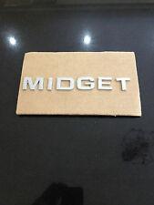 MG MIDGET CHROMED LETTER SET BADGE 18G8761  OE  J.FRAY B'HAM JF4788