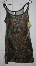 Mossy Oak Camo Tank Nightgown Lingerie Small 100% Polyester Sleepwear NWT