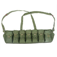 CHINESE MILITARY SURPLUS  RIFE 7.62X39 7 SEVEN POCKET  M-63 CHEST RIG-31192