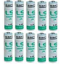 10 Batterie pile STILO AA Lithium litio SAFT LS14500 3,6V Li-SoCl2 2600 mAh