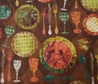 Hot Little Dish Christine Adolph BTY Quilting Treasures Cooking Terms Light Gold