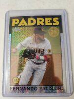 Fernando Tatis Jr 2021 Topps Silver Pack Refractor 1986 #86BC-100 Padres