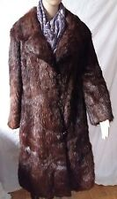 Gorgeous Sheared Nutria Women's Long Brown Fur Coat vintage