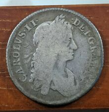 1663 Charles II Great Britain British 1 One Shilling UK Foreign Coin Lot D70