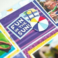 "Creative Memories 12x12 ""Electric Summer"" Paper (12pk) & Stickers Bundle"