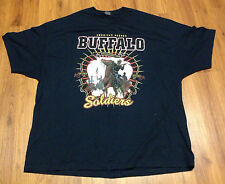 BUFFALO SOLDIERS US Army Cavalry Men's 4XL T-Shirt Black Cotton Short Sleeve Tee