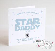 STAR WARS DADDY TO BE Birthday Card - New Dad Pregnant Baby Boy Birth Son