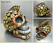 Gewehrkugel Irokesenschnitt Totenkopf Skelett Kopf Skulptur Figur Halloween Gift