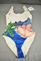 onia Kelly One-Piece Swimsuit, Women's Size Small, Gardenia NEW