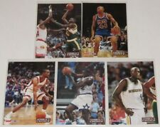 1993/94 Hoops NBA Admiral's Choice Complete 5-Card Insert Set Shaq Webber Good