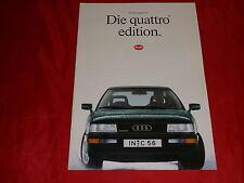 "AUDI 80 B3 quattro 90 B3 quattro Urquattro 20V ""Edition"" Prospekt von 1990"